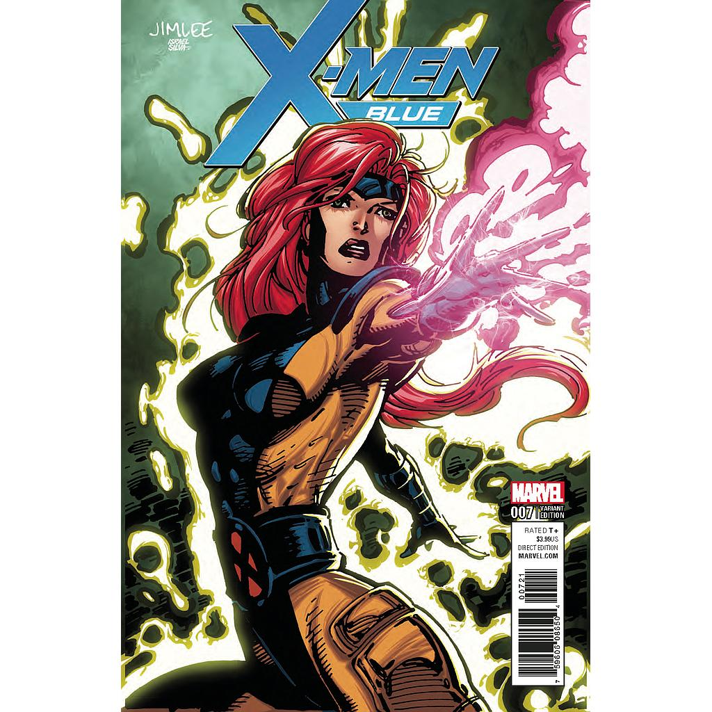 X-MEN BLUE #7 X-MEN CARD VAR SE